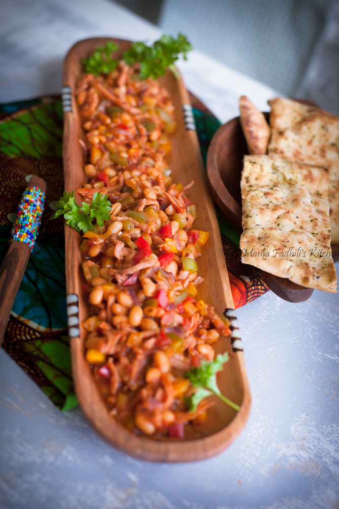 A plate of Kenyan beans